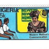 NIGERIA, 45 K - Timbre straine, Nestampilat