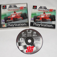 Joc consola Sony Playstation 1 PS1 PS One - Formula 1 98, Actiune, Toate varstele, Single player