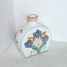 Sticla (plosca) ceramica pictata manual sub smalt - Persephona - Toscana, Italia