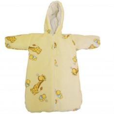 Sac Bebe Pentru Carucior Girafa Crem - Lenjerie pat copii