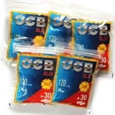 Filtre OCB SLIM 120+30 GRATIS pentru rulat tutun, tigari - Filtru tutun