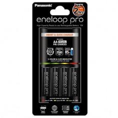 Incarcator + 4 Baterii AA Eneloop PRO 2h BQ-CC55E
