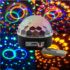 Glob disco LED CRYSTAL MAGIC BALL - Lumini club