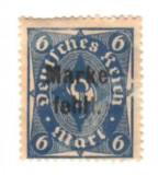 SV * Germania  /  Deutsches Reich  6  MARK  1922-1923   SUPRATIPAR   nestampilat