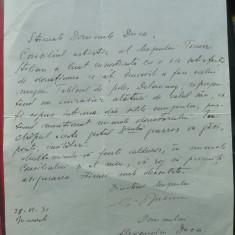 Scrisoare a lui George Oprescu catre Alexandru Duca, 1931 - Autograf