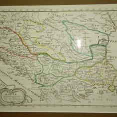Dacia, Panonia, Illyris, Moesia, Thracia, Sanson Filio 1654 - Harta Romaniei