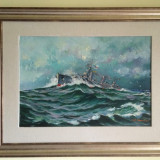 Pictura de Valentin Donici - ulei pe panza - Pictor roman, Marine, Realism