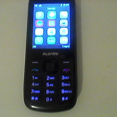 Telefon Alwiew - NOU cu Butoane - DUAL SIM (2 CARTELE, 2 NR DE TELEFON) - Telefon mobil Dual SIM Allview, Negru, Nu se aplica, Neblocat, Dual core