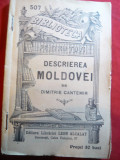 Dimitrie Cantemir - Descrierea Moldovei -cca.1909 BPT 507 ,Ed.L.Alcalay, Dimitrie Cantemir