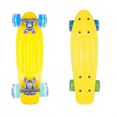 Mini Penny board Worker Pico 17'' cu roti iluminate - Skateboard WORKER, Marime: 43