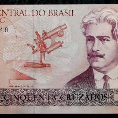 BRAZILIA 50 cruzados 1986 P#210a UNC necirculata ** - bancnota america