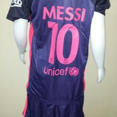 SET ECHIPAMENT COPII BARCELONA MESSI 6-15ANI (104, 116, 128, 140, 152, 164, 176) - Set echipament fotbal, Marime: Marime universala