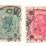 SV * Austria (LOT 2 TIMBRE STAMPILATE) 3 KREUZER + 10 HELLER Franz Joseph, An: 1919, Regi