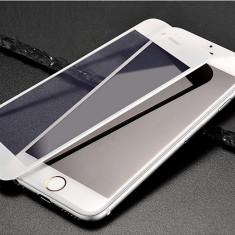 Folie Hoco STICLA SECURIZATA 0.15mm, iPHONE 6 / 6S, margine siliconica moale ALB - Folie de protectie