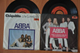 "Lot 2 Discuri Vinil ABBA - Chiquitita. Take a chance on me. Disc Vinyl 7""."
