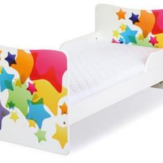 Pat Copii Tineret 3-10 Ani Klups Timo Stars - Pat tematic pentru copii, 140x70cm, Multicolor