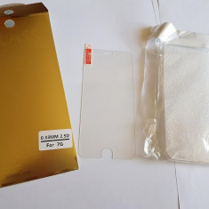 Folie sticla Iphone 7 + Husa silicon