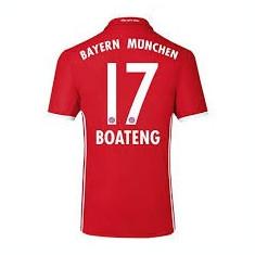 Tricou BAYERN 17 BOATENG - Tricou echipa fotbal, Marime: XXL, Culoare: Din imagine, De club, Bayern Munchen, Maneca scurta