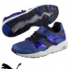 Puma pantofi sport Blaze Knit-Produs Original-cel mai mic pret - Adidasi barbati, Marime: 40, 41, 42.5, 43.5, 44, 45, Culoare: Bleu