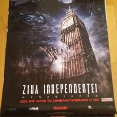 Afis / poster cinema Ziua independentei Renasterea original folosit / by WADDER