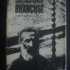 OMAGIU LUI BRANCUSI volum editat de revista Tribuna {1976} - Carte sculptura