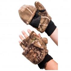 Manusi Baracuda fleece calduroase cu degete detasabile, L, XL, XXL, Manusi pescar