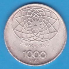 (7) MONEDA DIN ARGINT ITALIA - 1000 LIRE 1970 - CONCORDIA - 100 DE ANI REPUBLICA, Europa