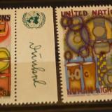 NATIUNILE UNITE NEW YORK 1983 – DREPTURILE OMULUI, serie nestampilata UN24 - Timbre straine