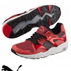 Puma pantofi sport Blaze Knit-Produs Original-cel mai mic pret - Adidasi barbati, Marime: 39, 40, 40.5, 41, 42.5, 43.5, 44, 45, Culoare: Rosu