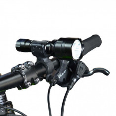 Far Bicicleta ASSASSIN C8 cu Led CREE T6 + Suport Rotativ + Stop 5 Leduri