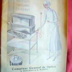 Catalog vechi -Aparatura Sterilizare Electrica-distrib.Comptuar Gen.Optica Buc. - Reclama Tiparita