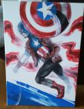 Cumpara ieftin Tablou original Captain America (Universul Marvel) / by WADDER, Scene lupta, Acrilic, Altul