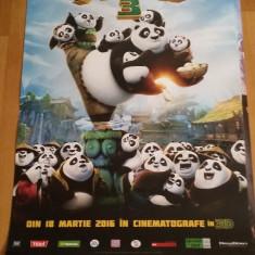 Afis / poster cinema Kung Fu Panda 3 original folosit / by WADDER
