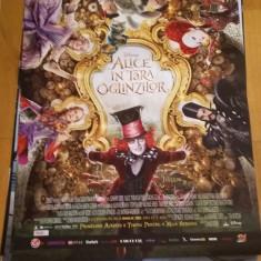Afis / poster cinema Alice in tara oglinzilor original folosit / by WADDER