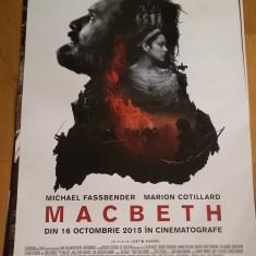 Afis / poster cinema Macbeth original folosit / by WADDER