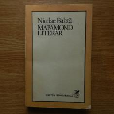 Nicolae Balota- Mapamond literar, eseuri de literatura universala