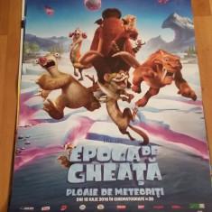 Afis / poster cinema Ice age Ploaia de meteoriti original folosit / by WADDER