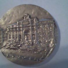 Placheta comemorativa Italia - bronz placat cu argint- d= 60 mm - Jubiliare