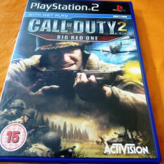 Joc Call of Duty 2 Big Red One, PS2, original, alte sute de jocuri! - Jocuri PS2 Activision, Shooting, 16+, Single player