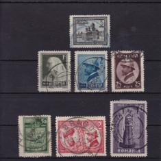 ROMANIA 1922, LP 73, INCORONAREA DE LA ALBA IULIA SERIE STAMPILATA - Timbre Romania