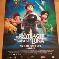 Afis / poster cinema Fura steagul! Salveaza Luna original folosit / by WADDER