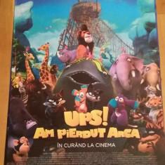 Afis / poster cinema Ups! Am pierdut arca original folosit / by WADDER