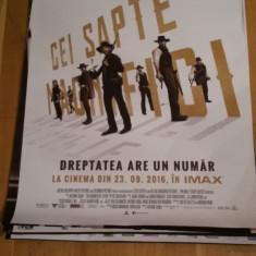 Afis / poster cinema Cei sapte magnifici original folosit / by WADDER