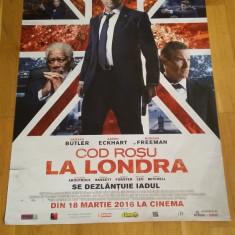 Afis / poster cinema Cod rosu la Londra original folosit / by WADDER