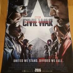 Afis / poster cinema Captain America original folosit / by WADDER