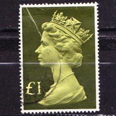 Timbre ANGLIA 1977 = REGINA ELIZABETH II, EDITIE MARITA - Timbre straine, Stampilat