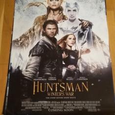 Afis / poster cinema The Huntsman Winter war original folosit / by WADDER