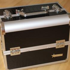 Geanta machiaj / Geanta cosmetice Fraulein38 din aluminium Beauty Case depozitare