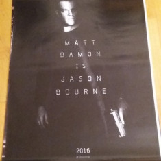 Afis / poster cinema Jason Bourne original folosit / by WADDER