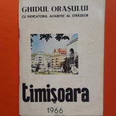 GHIDUL STRAZILOR ORASULUI TIMISOARA 1966 cu harta